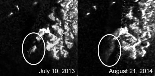 Mistero su Titano: un'isola ha cambiato forma in pochi mesi