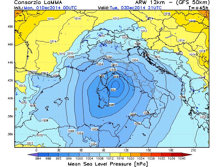 Ciclone mediterraneo in arrivo su Sardegna e Lazio: landfall sulle coste
