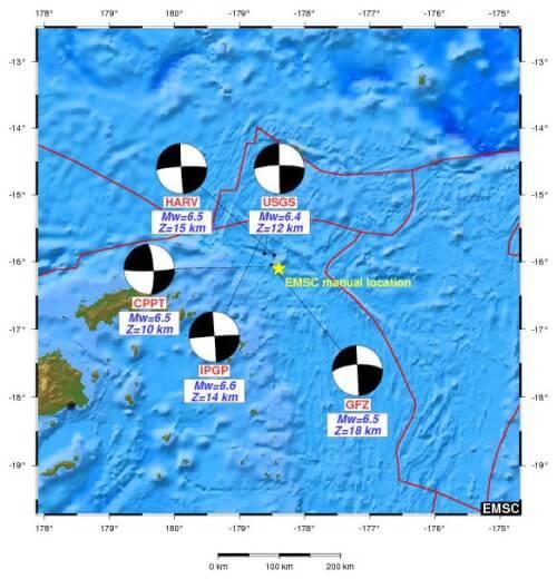 Analisi sismica 13-19 Aprile 2015, il terremoto più forte alle Fiji