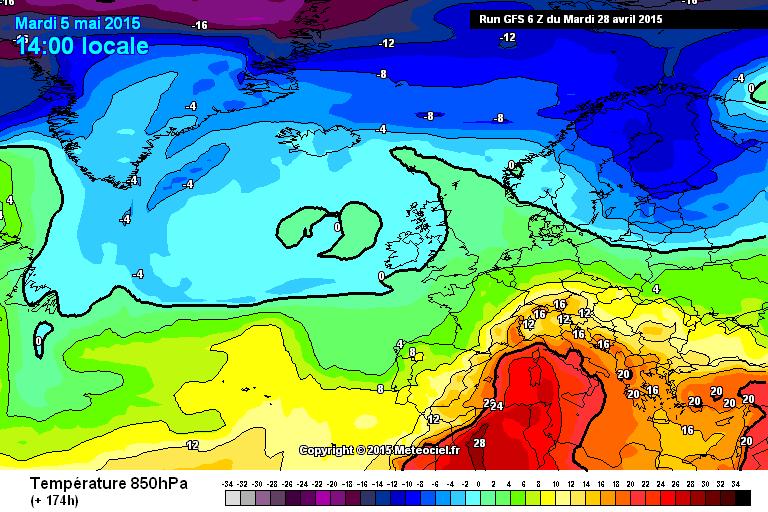Ondata di caldo intenso in arrivo all'inizio di Maggio?