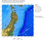 Forte terremoto in Giappone, magnitudo 6.8 (dati USGS)