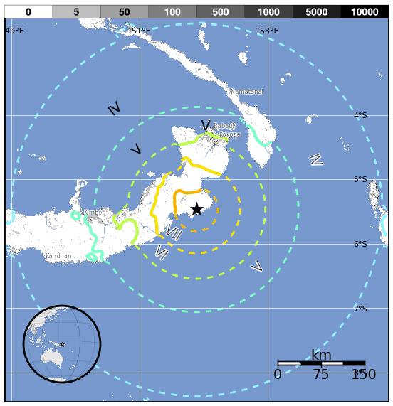 Analisi sismica 4 – 10 Maggio 2015, il terremoto più forte ancora una volta in Papua Nuova Guinea