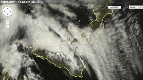 Maltempo in Sicilia: nubifragi e grandine in provincia di Palermo, tracollo termico di 20 gradi in 24 ore