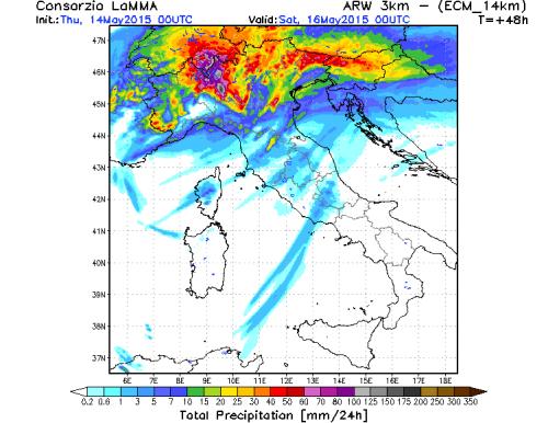 Maltempo al Nord Italia: violenti temporali in arrivo nelle prossime 36 ore