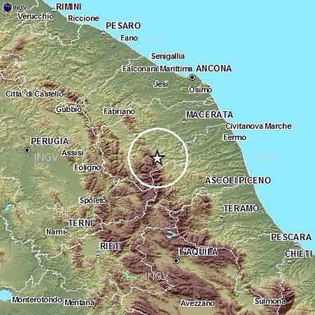 Terremoto Marche oggi 21 Maggio 2015: avvertita scossa di magnitudo 3.4 Richter