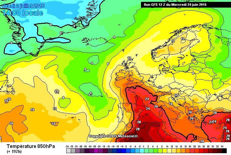 Meteo lungo termine: passi indietro sull'ondata calda di fine mese ed inizio Luglio