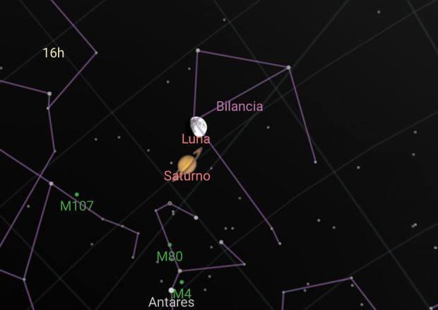 Congiunzione Luna-Saturno: nuovo spettacolo dopo Giove e Venere