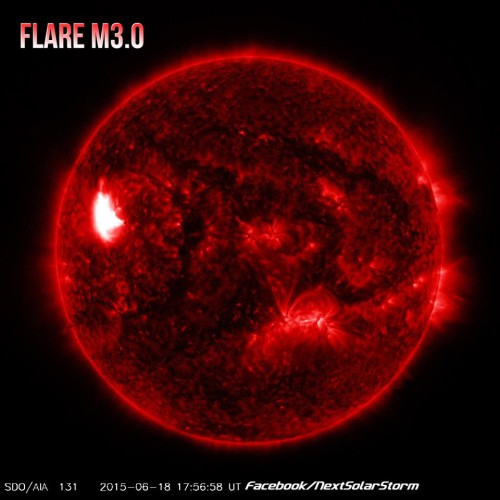 Flare solare di M 3.0, brillamento di potenza moderata