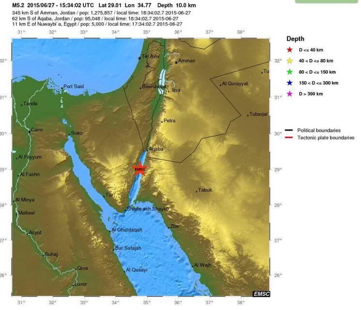 Forte scossa di terremoto nel Sinai, epicentro tra Egitto ed Arabia Saudita