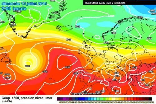 Meteo lungo termine: possibile stop dal caldo africano attorno al 10/12 Luglio