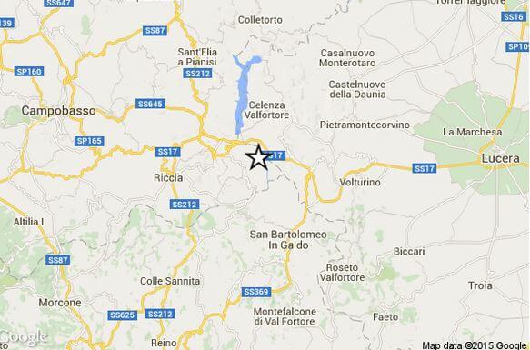 Terremoto 23 Luglio Molise Puglia e Campania, scossa magnitudo 3.3 Richter