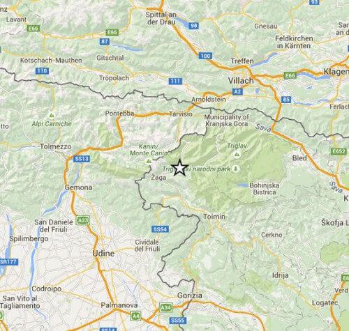 Terremoto Triveneto e Slovenia, intensa scossa di magnitudo 4.2 Richter al confine con il Friuli