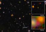 Le immagini di EGS8p7, la galassia più lontana mai osservata dall'uomo