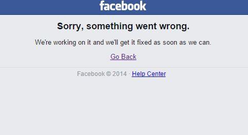 Facebook down, Facebook fuori uso da alcuni minuti