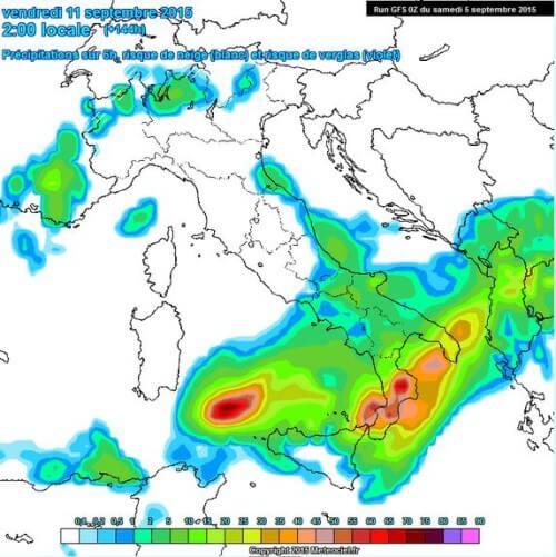 Maltempo in arrivo al Sud Italia, violenti temporali tra 10 e 12 Settembre?