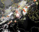 Forte maltempo in arrivo al Centro Italia, vasti temporali sul Tirreno