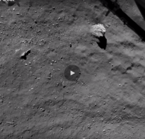 Il video dell'atterraggio della sonda Philae sulla superficie di una cometa