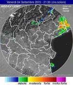 Tempo in atto: temporali e tempeste di fulmini su Lazio e Friuli-Venezia Giulia