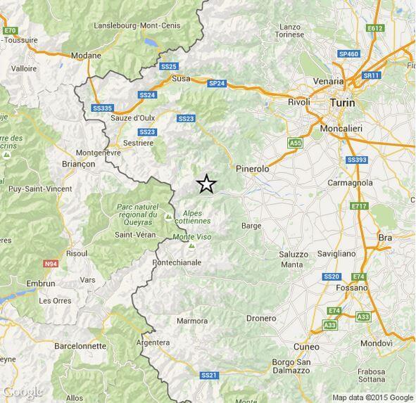 Terremoto Piemonte, registrata significativa scossa di magnitudo 3.1 Richter