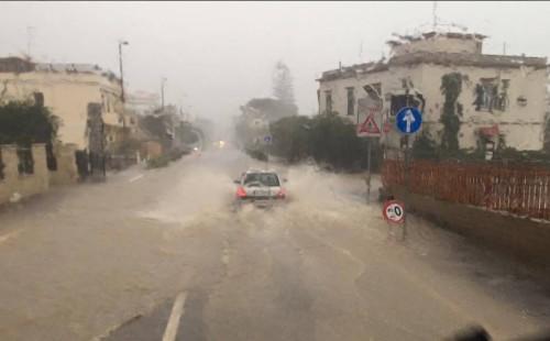 Alluvione in atto a Santa Marinella, Lazio