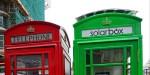 Londra, le cabine telefoniche si tingono di verde