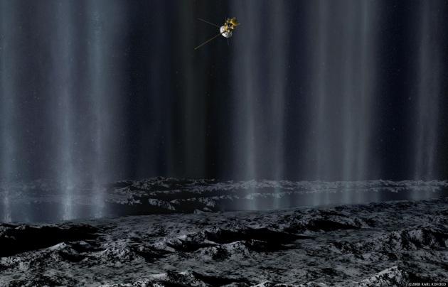 La sonda Cassini arriva a 50 chilometri da Encelado