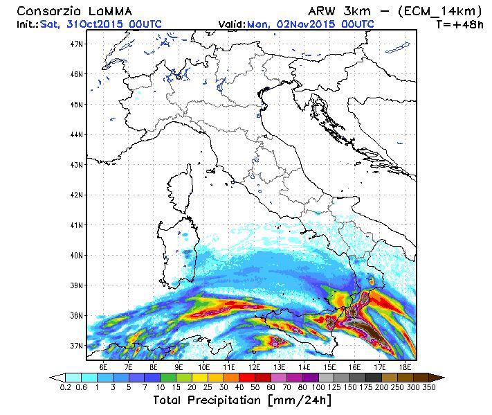 Meteo Sicilia e Calabria: saranno 36 ore di forte maltempo, rischio nubifragi