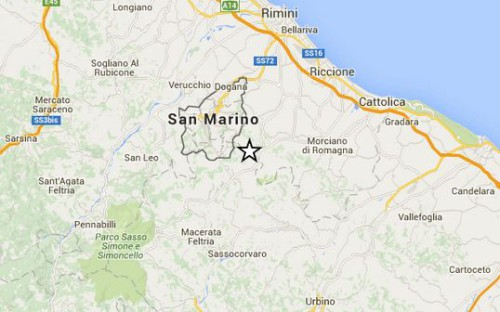 Terremoto Marche, scossa M 3.5 oggi 11 novembre 2015 zona Pesaro-Urbino, info Ingv