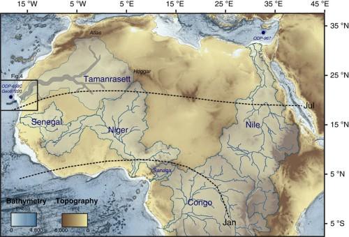 Scoperto un fiume nel Sahara che si espandeva per tutto il deserto