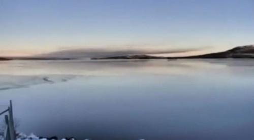Perché un lago si ghiaccia: il video straordinario del lago Hornavan, in Svezia