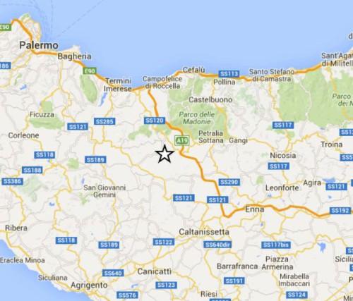 Scossa di terremoto in Sicilia, magnitudo 3.1 Richter