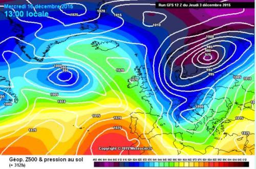 Tendenza meteo: maltempo e neve a partire dal 12 del mese di Dicembre?