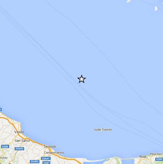 Terremoto oggi Molise Puglia Abruzzo: scossa di magnitudo 4.3 Richter