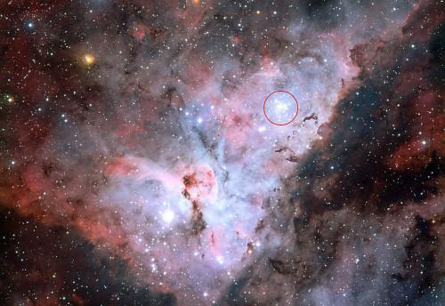Hubble, catturato l'ammasso stellare più luminoso della Via Lattea