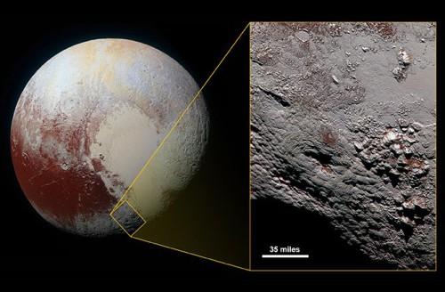 Plutone, pubblicata la foto di un gigantesco criovulcano