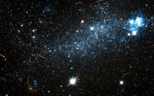 Galassia dalla forma inedita scoperta da Hubble