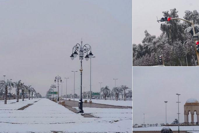 Storica nevicata in Kuwait, non era mai successo