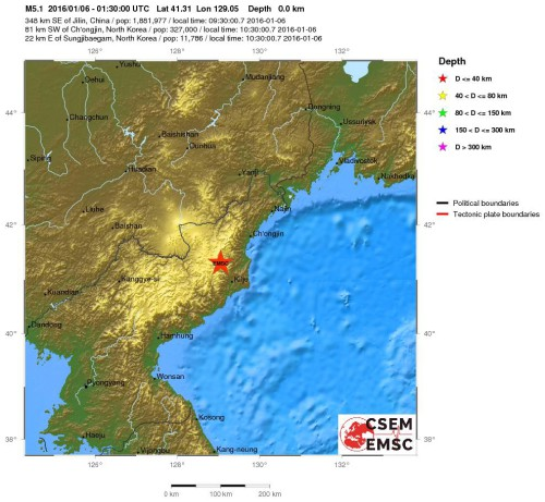 Test nucleari in Nord Corea, forte scossa di terremoto M 5.1 Richter