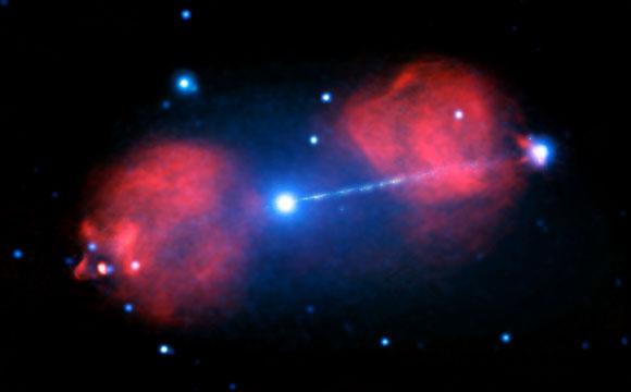 Esplosione dalla galassia Pictor A, l'osservazione del telescopio