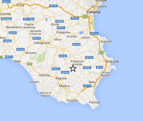 Terremoto Sicilia oggi, nuova replica M 3.7 a Ragusa, dati INGV