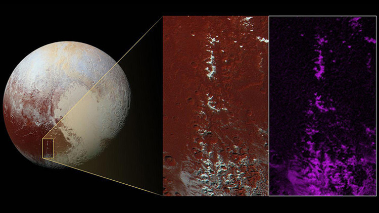 Astronomia, metano come neve sulle montagne di Plutone