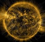 Sole: il campo magnetico ricostruito in un'immagine