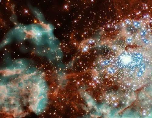 Stelle dalle dimensioni spaventose osservate da Hubble