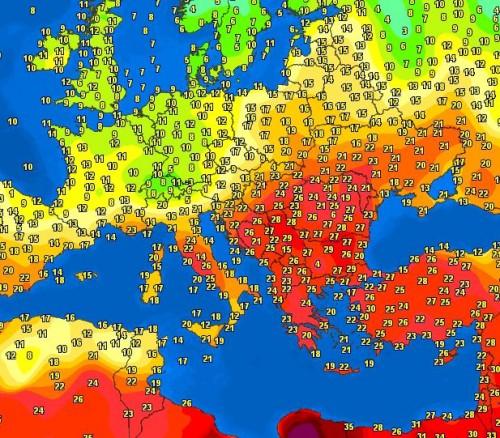 Caldo record tra Italia e Balcani, ma sono in arrivo pioggia, freddo e neve