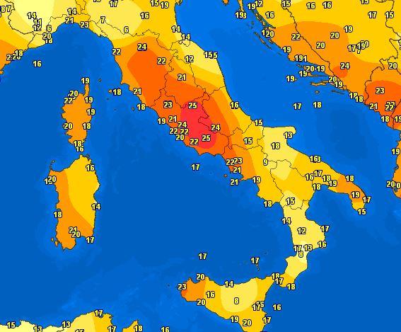 Caldo Italia, temperature quasi estive su Toscana e Lazio