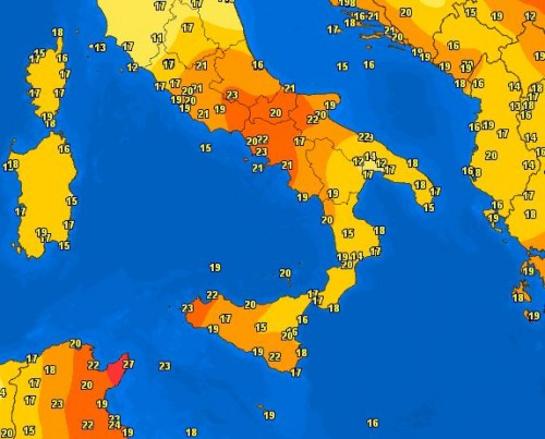 Caldo Italia, al Sud temperature da inizio Estate