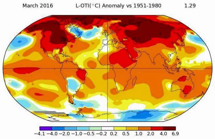 Caldo record a Marzo, temperature molto elevate in tutto il Pianeta