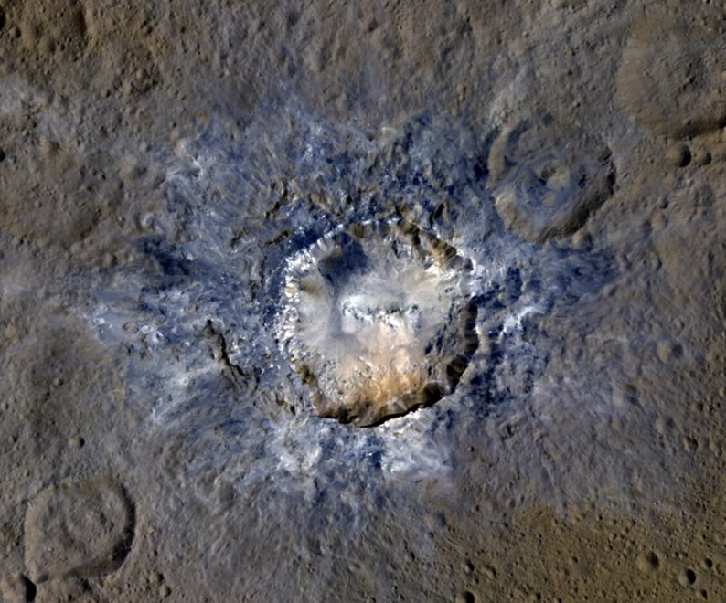 Cerere: i crateri dell'asteroide visti da vicino