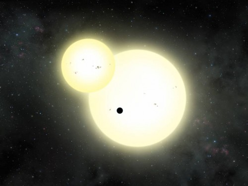Spazio, il gigantesco pianeta orbitante intorno a due stelle
