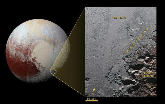 Krun Macula, la regione di Plutone dagli enormi canyon